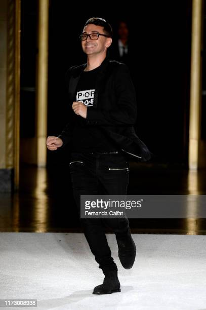 Christian Siriano makes an appearance on the runway for Christian Siriano during New York Fashion Week The Shows September 07 2019 in New York City