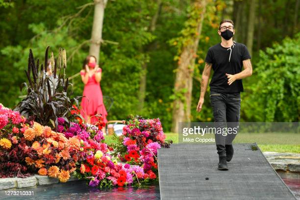 Christian Siriano walks the runway at the Christian Siriano Collection 37 2020 Fashion Show on September 17 2020 in Westport Connecticut