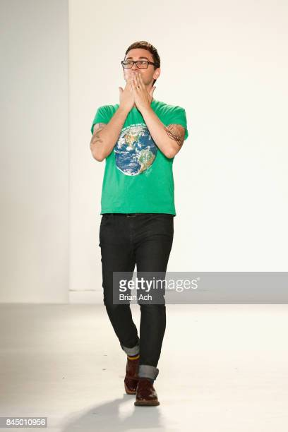 Christian Siriano walks the runway at the Christian Siriano fashion show during New York Fashion Week The Shows at Pier 59 on September 9 2017 in New...