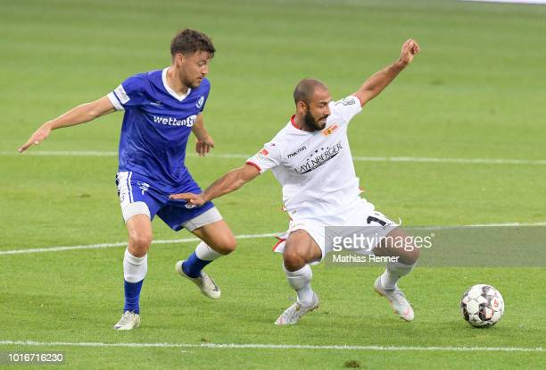Stefan Rankic of 1 FC Union Berlin during the test match between Union Berlin and VSG Altglienicke at Stadion an der Alten Foersterei on August 14...