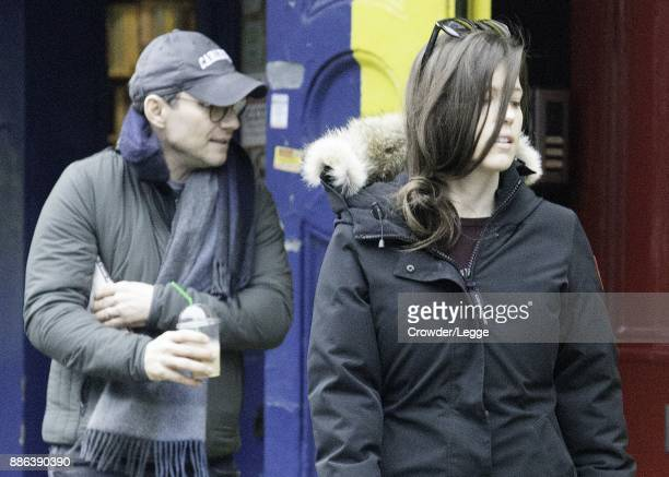 Christian Slater and Brittany Lopez seen in Primrose Hill on December 5 2017 in London England