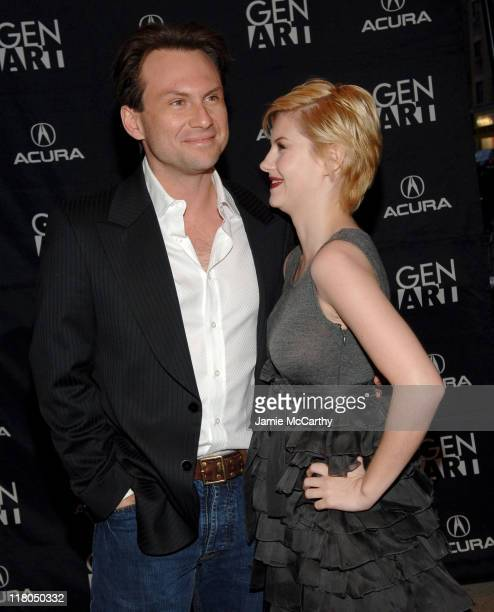 """Christian Slater and Elisha Cuthbert during GenArt Film Festival Closing Night Featuring """"He Was A Quiet Man"""" at Clearview Chelsea West Theater in..."""