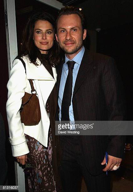 Christian Slater and his wife arrive at the press night and West End transfer of One Flew Over The Cuckoos Nest at the Gielgud Theatre on September...