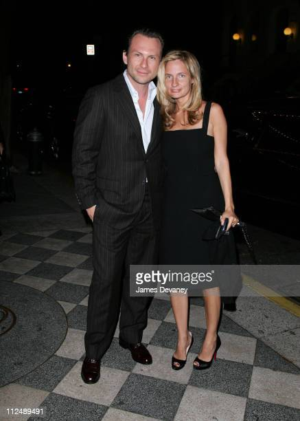 Christian Slater and Holly Wiersma during Harvey Weinstein Hosts a Private Screening of Bobby for Senators Obama and Schumer After Party at Plaza...
