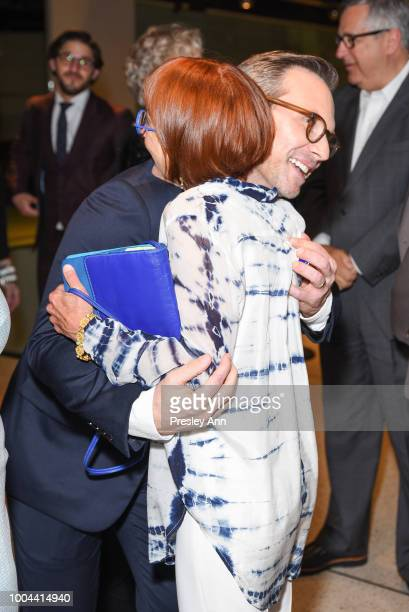 Christian Slater and Jane Anderson attend Sony Pictures Classics' Los Angeles Premiere of The Wife at Pacific Design Center on July 23 2018 in West...