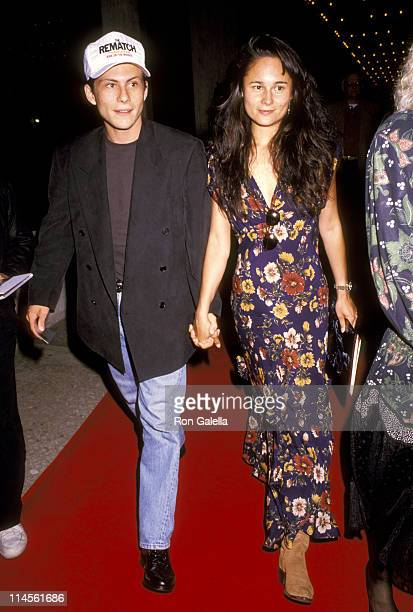 Christian Slater and Nina Huang during Terminator 2 Judgment Day Los Angeles Premiere Arrivals in Los Angeles California United States