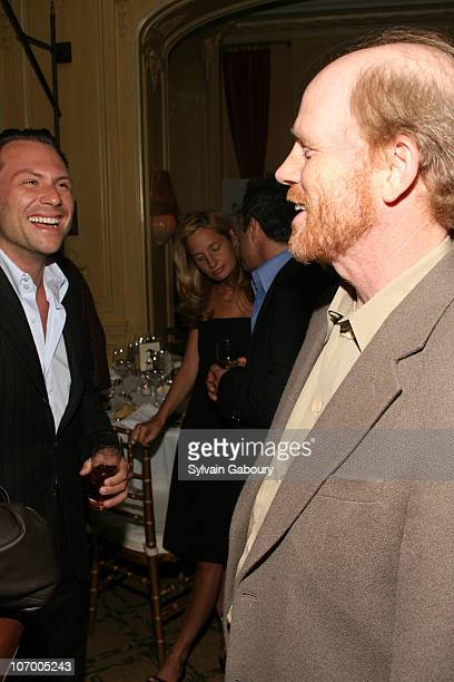 Christian Slater and Ron Howard during Harvey Weinstein Hosts a Private Dinner and Screening of Bobby for Senators Obama and Schumer at Plaza Athenee...