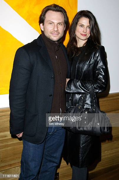 Christian Slater and Ryan Haddon during Churchill The Hollywood Years Press Screening Inside Arrivals at Soho Hotel in London England Great Britain