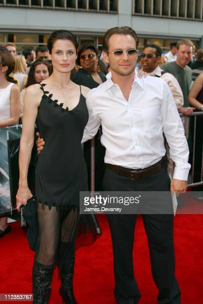 Christian Slater and wife Ryan Haddon during Minority Report New York City Premiere at Ziegfeld Theater in New York City New York United States