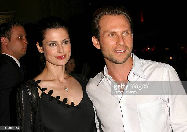 Christian Slater and wife Ryan Haddon during Minority Report Premiere After Party at Cipriani 42nd Street in New York City New York United States