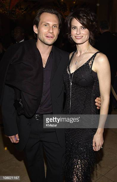 Christian Slater and wife Ryan Haddon during The 60th Annual Golden Globe Awards Miramax AfterParty Inside at Trader Vic's in Beverly Hills...