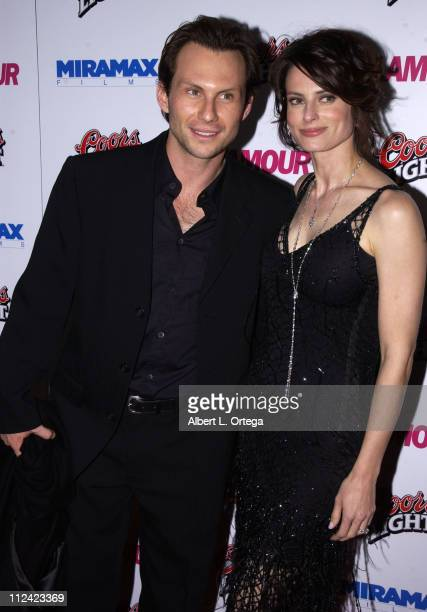 Christian Slater and wife Ryan Haddon during The 60th Annual Golden Globe Awards Miramax AfterParty Arrivals at Trader Vic's in Beverly Hills...