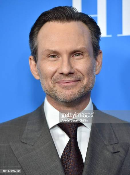 Christian Slater arrives at the Hollywood Foreign Press Association's Grants Banquet at The Beverly Hilton Hotel on August 9 2018 in Beverly Hills...