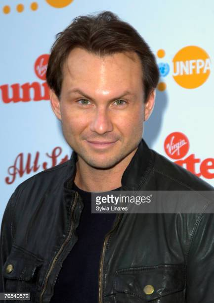 Christian Slater at the Virgin Unite Campaign to End Fistula Celebrity Bowl Off September 5, 2007 at All Star Lanes in London, England.