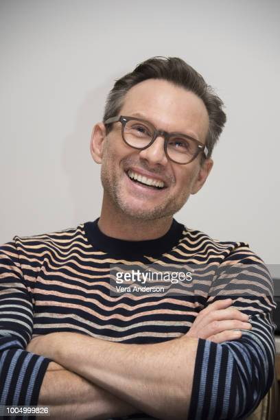Christian Slater at The Wife Press Conference at the Four Seasons Hotel on July 23 2018 in Beverly Hills California