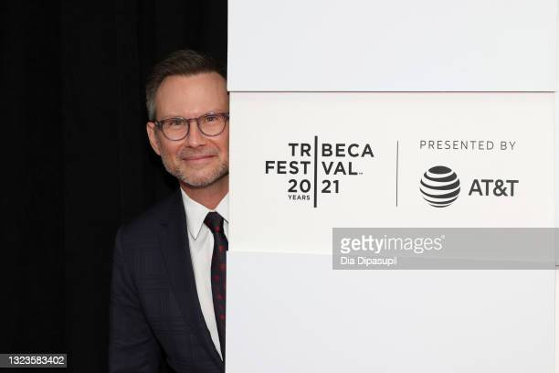 """Christian Slater attends 2021 Tribeca Festival Premiere of """"Dr. Death"""" at Pier 76 on June 14, 2021 in New York City."""
