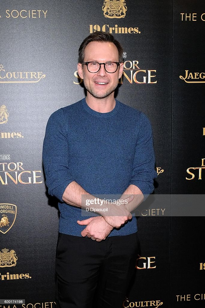 Christian Slater attends a screening of Marvel Studios' 'Doctor Strange', hosted by Lamborghini with The Cinema Society, Jaeger-LeCoultre, and 19 Crimes Wines, at AMC Empire on November 1, 2016 in New York City.