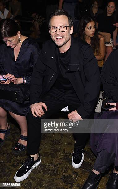 Christian Slater attends Public School's Women's And Men's Spring 2017 Collection Runway Show at Cedar Lake on June 7 2016 in New York City