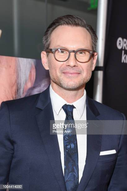 Christian Slater attends Sony Pictures Classics' Los Angeles Premiere of The Wife at Pacific Design Center on July 23 2018 in West Hollywood...