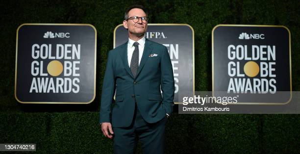 Christian Slater attends the 78th Annual Golden Globe® Awards at The Rainbow Room on February 28, 2021 in New York City.