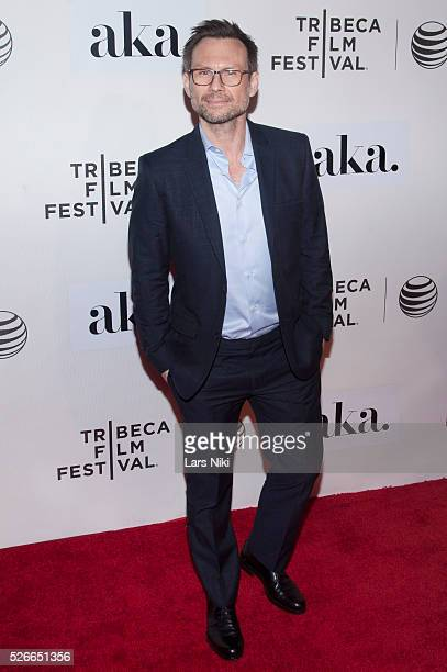 Christian Slater attends 'The Adderall Diaries' premiere during the 2015 Tribeca Film Festival at the BMCC in New York City �� LAN