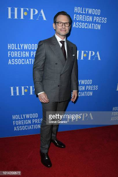 Christian Slater attends the Hollywood Foreign Press Association's Grants Banquet at The Beverly Hilton Hotel on August 9 2018 in Beverly Hills...