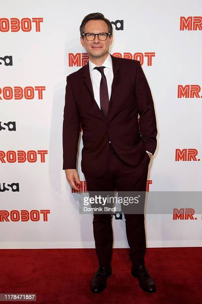 Christian Slater attends the Mr Robot season 4 premiere on October 01 2019 in New York City