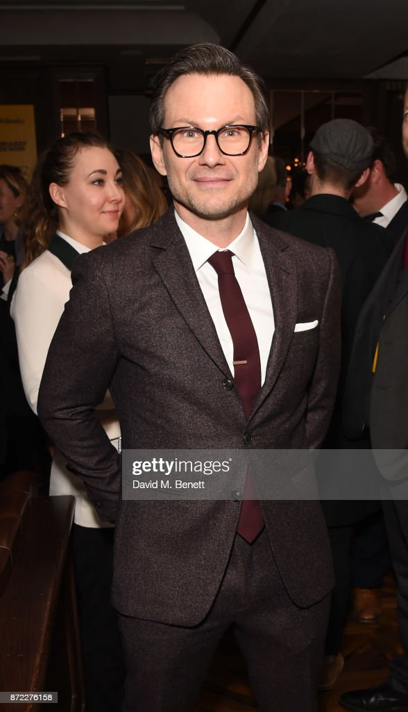 Christian Slater attends the press night after party for 'Glengarry Glen Ross' at Smith & Wollensky on November 9, 2017 in London, England.