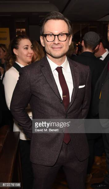 Christian Slater attends the press night after party for 'Glengarry Glen Ross' at Smith Wollensky on November 9 2017 in London England
