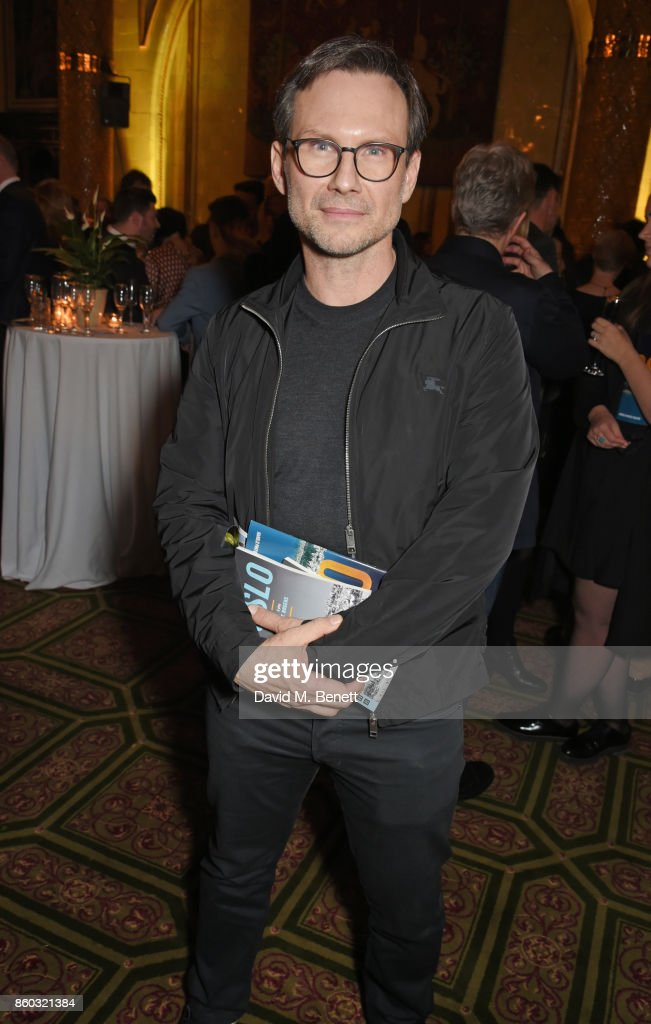 Christian Slater attends the press night after party for 'Oslo' at The Royal Horseguards on October 11, 2017 in London, England.