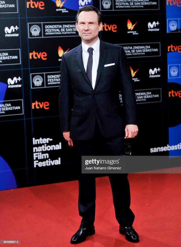 Christian Slater attends the red carpet of the closure gala during 65th San Sebastian Film Festival at Kursaal on September 30, 2017 in San Sebastian, Spain.