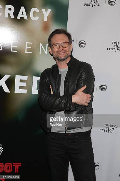 Christian Slater attends Tribeca Talks After The Movie Mr Robot during the 2015 Tribeca Film Festival at Chelsea Bow Tie Cinemas on April 26 2015 in...