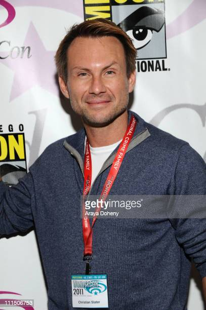Christian Slater attends Wondercon 2011 at Moscone Center South on April 3 2011 in San Francisco California