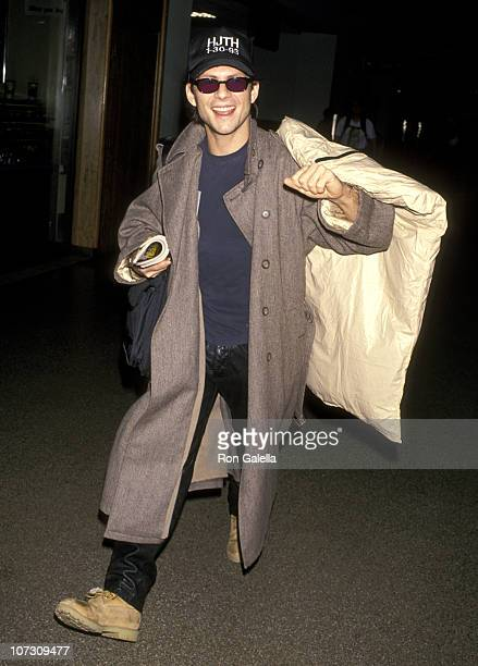 Christian Slater during Christian Slater Sighting at Los Angeles International Airport December 1 1994 at Los Angeles International Airport in Los...