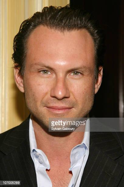 Christian Slater during Harvey Weinstein Hosts a Private Dinner and Screening of Bobby for Senators Obama and Schumer at Plaza Athenee at 37 East...
