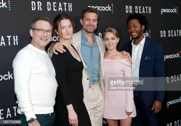 Christian Slater, Grace Gummer, Joshua Jackson, AnnaSophia Robb and Hubert Point-Du Jour attend the pre-screening reception for the premiere of...