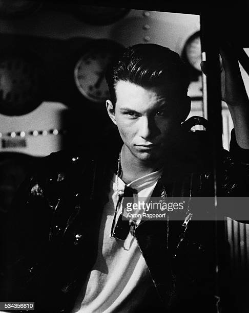Christian Slater in Leather Jacket