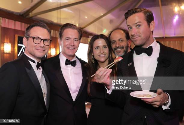 Christian Slater Kyle MacLachlan Desiree Gruber Luca Guadagnino and Armie Hammer attend the Official Viewing and After Party of The Golden Globe...