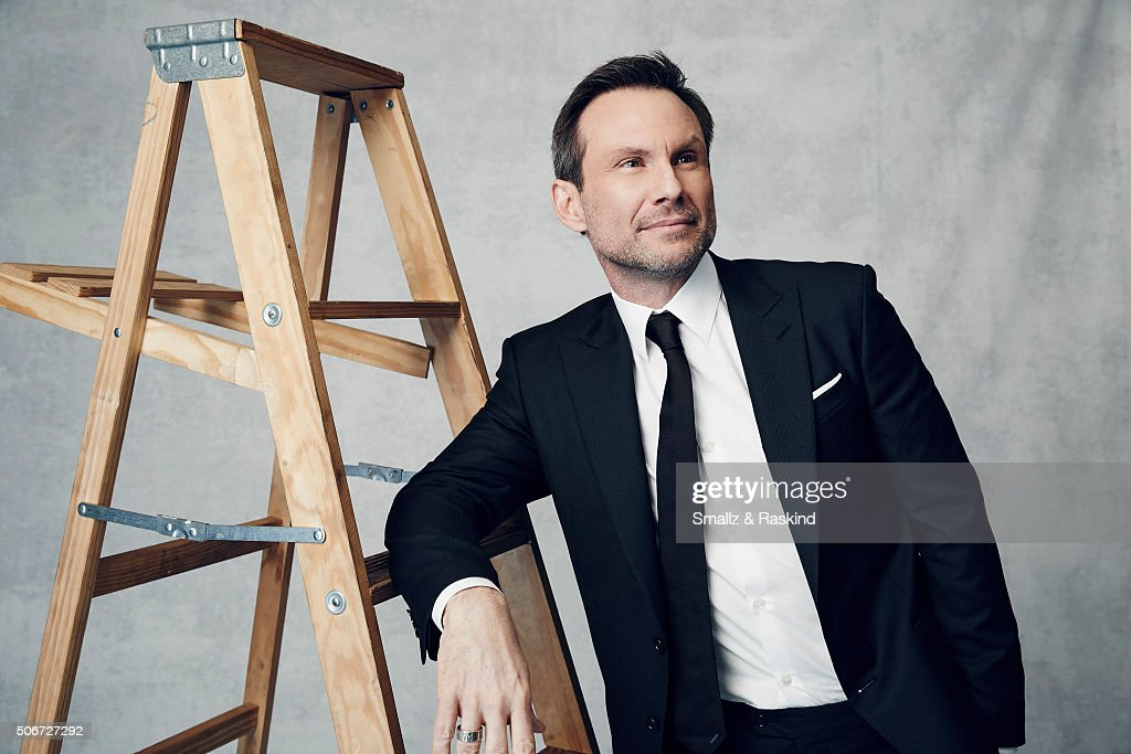 Christian Slater poses for a portrait during the 21st Annual Critics' Choice Awards at Barker Hangar on January 17, 2016 in Santa Monica, California.