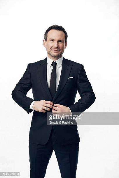 Christian Slater poses for a portrait during the 21st Annual Critics' Choice Awards at Barker Hangar on January 17 2016 in Santa Monica California