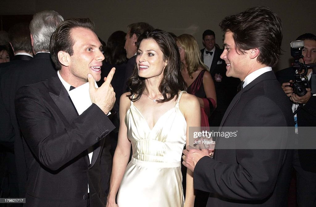 Christian Slater, Ryan Haddon and Rob Lowe a during Carousel Ball 2000 in Beverly Hills, California, United States.