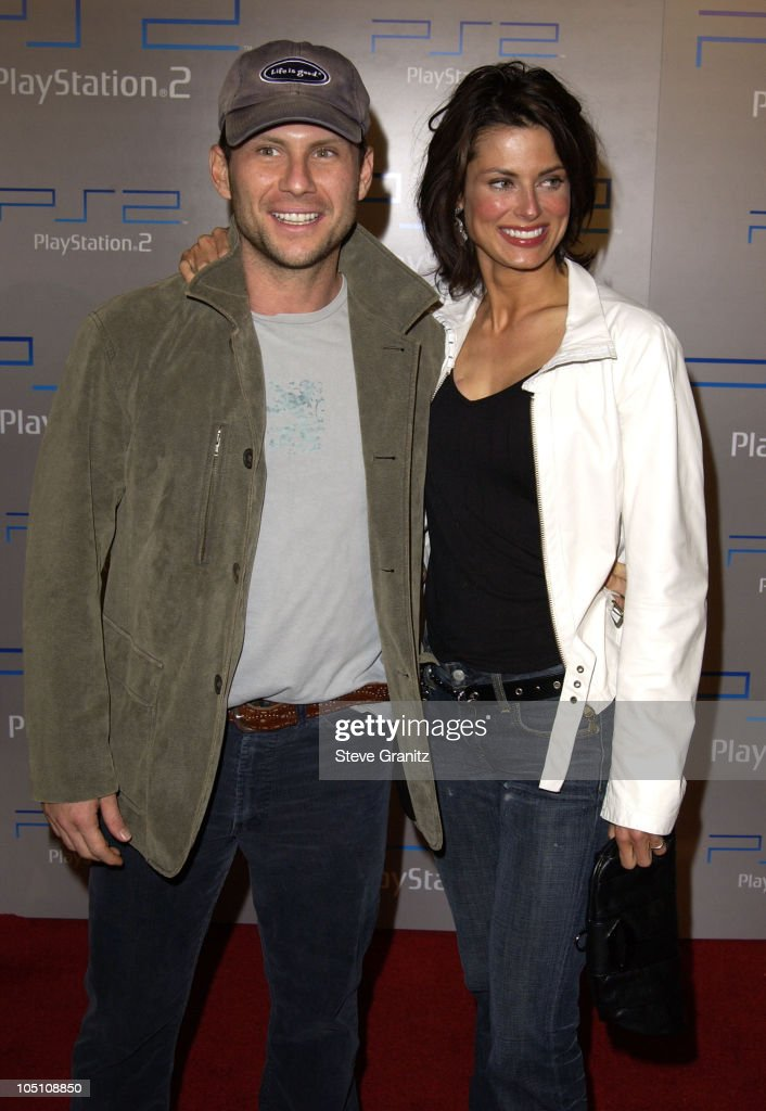 Christian Slater & wife during Playstation 2 'Playa Del Playstation' Party at Viceroy Hotel in Santa Monica, California, United States.