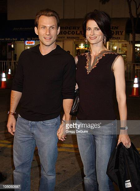 Christian Slater wife Ryan Haddon during The Ring Premiere at Mann Bruin Theatre in Westwood California United States