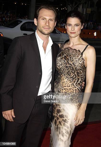 Christian Slater wife Ryan Haddon during Windtalkers Premiere at Grauman's Chinese Theatre in Hollywood California United States