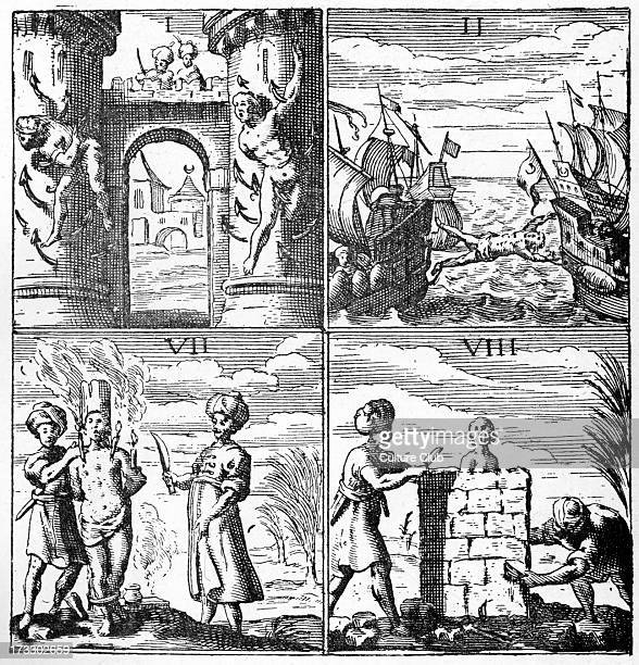 Christian slaves being tortured in Algeria Algeria was part of Ottoman empire at the time Caption reads Torments of the Slaves from Histoire de...