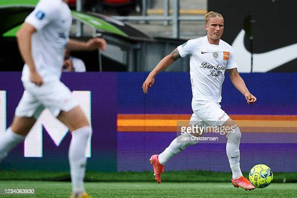 Christian Sorensen of Viborg FF in action during the Danish 3F Superliga match between FC Nordsjalland and Viborg FF at Right to Dream Park on July...