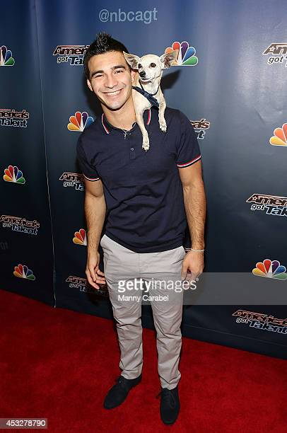 Christian Stoinev and Scooby attend America's Got Talent season 9 post show red carpet event>> at Radio City Music Hall on August 6 2014 in New York...
