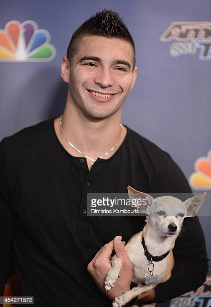 Christian Stoinev attends the America's Got Talent PostShow Red Carpet at Radio City Music Hall on August 27 2014 in New York City