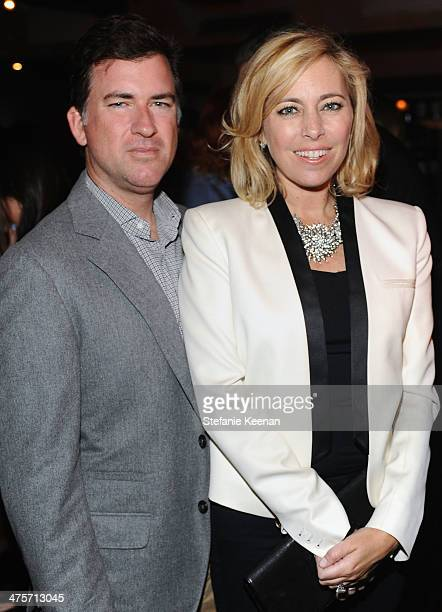 Christian Stracke and Sutton Stracke attend D.J. Night with L'Oreal Paris during Vanity Fair Campaign Hollywood at Sadie Kitchen and Lounge on...