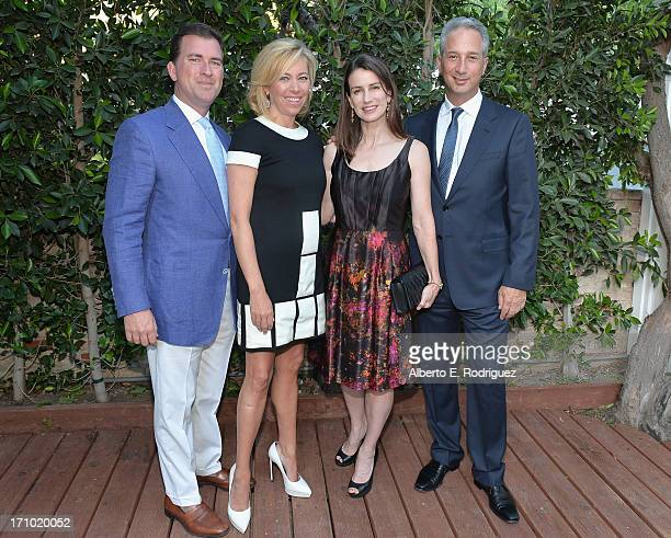 Christian Stracke, Sutton Stracke, Catharine Soros and Jeffrey Soros attend Benjamin Millepied's L.A. Dance Project Inaugural Benefit Gala on June...